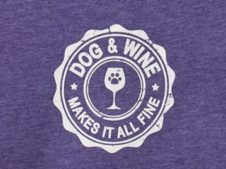 Dog and Wine Makes It All Fine (V-Neck T-Shirt)