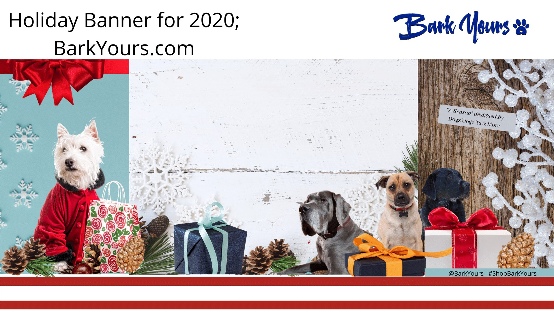 The Holiday Banner for BarkYours.com
